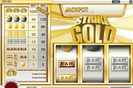 Strike Gold Progressive Slot
